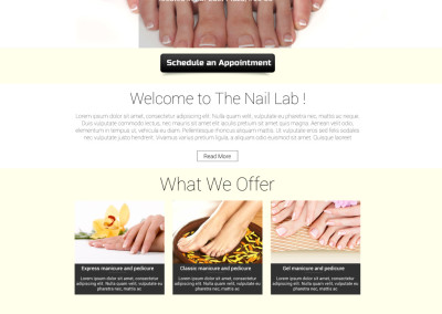 Web Design – Nail Spa