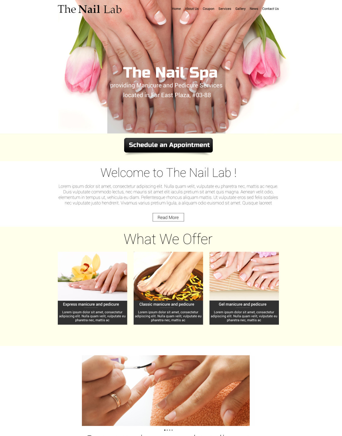 Web Design – Nail Spa | Bridgingpoints Marketing Services