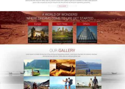 Web Design – Travel Industry